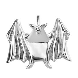 Origami Bat Silver Pendant in Platinum Overlay Sterling Silver, Silver wt 3.40 Gms.