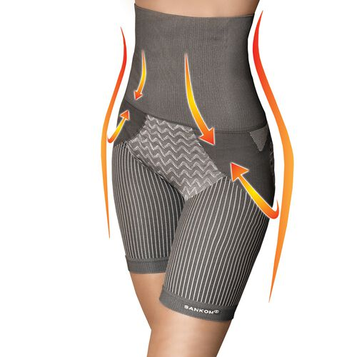 SANKOM Patent Body Shaper - Bamboo Fibers, Grey Colour