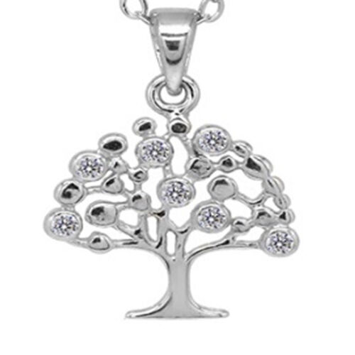 New York Close Out- Tree of Life  Pendant with Chain (Size 18) in Rose Gold Overlay Sterling Silver