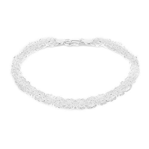 Sterling Silver Byzantine Bracelet (Size 8), Silver wt 18.00 Gms.