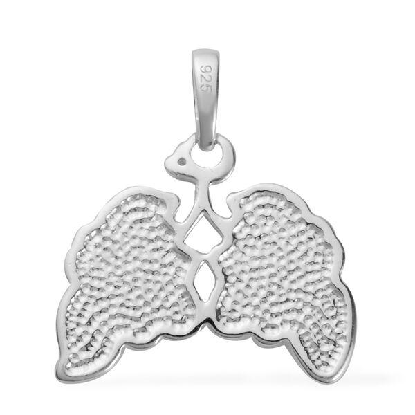 Designer Inspired - Diamond Pendant in Sterling Silver
