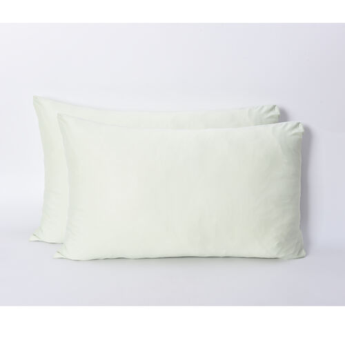 Set of 2 - Envelope Style Cooling Pillowcases (Size 50x75 Cm) - Pistachio Green
