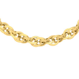 9K Yellow Gold Diamond Cut Prince of Wales Chain (Size 20) with Lobster Clasp, Gold wt 12.00 Gms