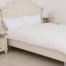 Luxury Wool Rich Filled Single Duvet with Gold Piping  (Size 200x135 Cm) - Cream Colour