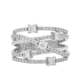 10K White Gold and Diamond (I1-I2/G-H) Ring 1.00 ct, Gold Wt. 5.48 Gms