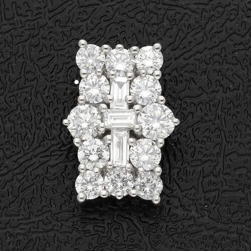 RHAPSODY 950 Platinum IGI Certified Diamond (VS/E-F) Cluster Pendant 1.00 Ct.