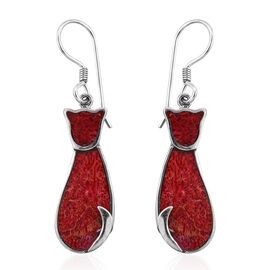 Royal Bali Sponge Coral Kitty Hook Earrings in Sterling Silver 4.54 Grams With Hook