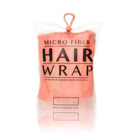 Sleeke Microfibre Hair Wrap - Coral