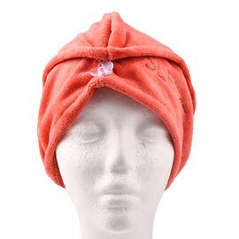 Sleeke Microfibre Hair Wrap - Coral (Size 62x25cm)