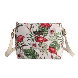 SIGNARE - Tapastry Flamingo Cross Body Bag  ( 28 x 18 x 8 cms)