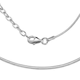 Sterling Silver Adjustable Snake Chain (Size 16 with 2 inch Extender)