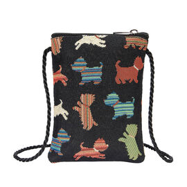 Signare Tapestry - Playful Puppy Smart Bag (Size 12x17x1.5 Cm)
