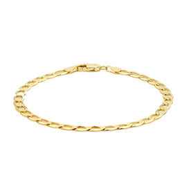Hatton Garden Close Out 9K Yellow Gold Curb Bracelet (Size 8)