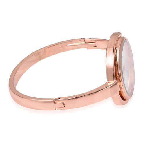 Designer Inspired Rose Gold Plated Crystal Bangle Watch