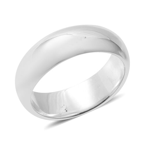 Italian Made Sterling Silver Band Ring, Silver wt 8.61 Gms