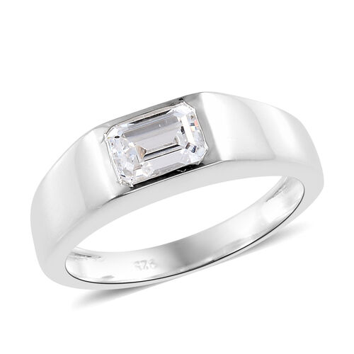 J Francis Sterling Silver (Oct) Ring Made with SWAROVSKI ZIRCONIA