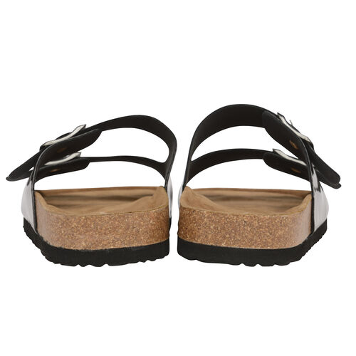 Dunlop Dionne Open Toe Flat Sandals (Size 4) - Silver