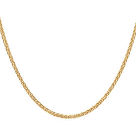 Made in Italy - 14K Gold Overlay Sterling Silver Spiga Chain (Size 22), Silver wt 24.78 Gms