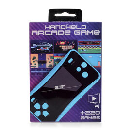 AQUARIUS Handheld Electronic Arcade Retro 220 Classic Games - Blue