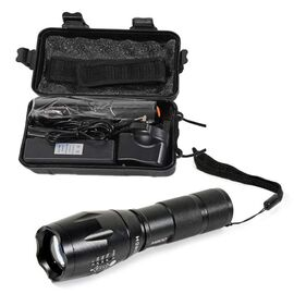 Close Out Deal - Tactical Flashlight with Charger, Case and Belt Strap