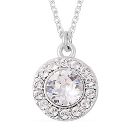 One Time Close Out Deal- Eternity Crystal from Swarovski White Crystal (Rnd) Pendant with Chain (Siz