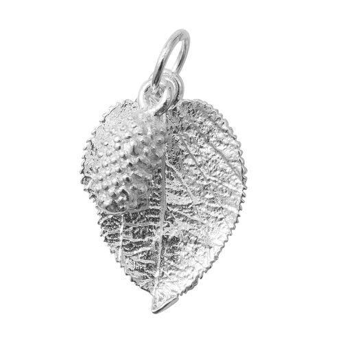 Sterling Silver Leaf Charm Pendant, Silver wt 3.85 Gms.