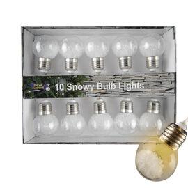 Christmas Decoration Specials- 10 Piece Glitter Light Bulbs