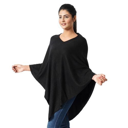 Limited Available - 100%  Cashmere Pashmina Wool - Black Colour (Free Size 70x70Cm)