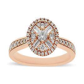 9K Rose Gold Diamond (I1/G-H) Ring 0.50 Ct.