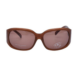 Jean Louis Unisex Oversized Brown Sunglasses with Brown Lenses