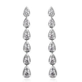 Super Auction- RHAPSODY 950 Platinum IGI Certified Diamond (Rnd) (VS/E-F) Earrings (with Screw Back)