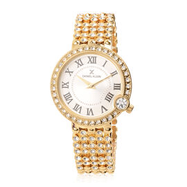 Close Out Deal - DANIEL KLEIN Crystal Studded Golden Dial Watch