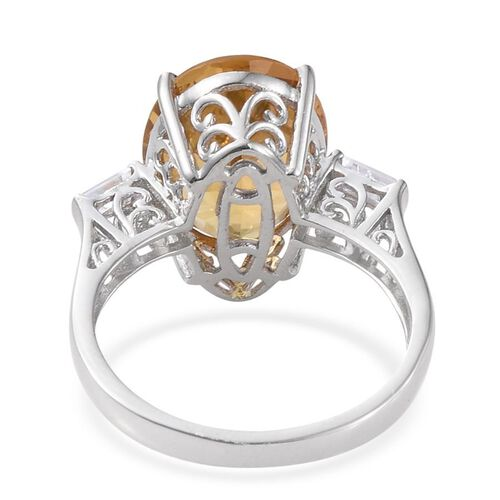 Marialite (Ovl 8.00 Ct), Natural Cambodian Zircon Ring in Platinum Overlay Sterling Silver 8.250 Ct.