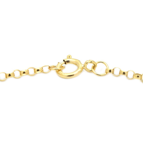 9K Yellow Gold Belcher  Bracelet (Size 7.25) ,  Gold Wt. 0.42 Gms
