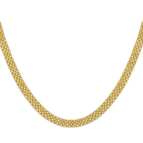 9K Yellow Gold Bismark Necklace (Size 18), Gold wt 10.00 Gms