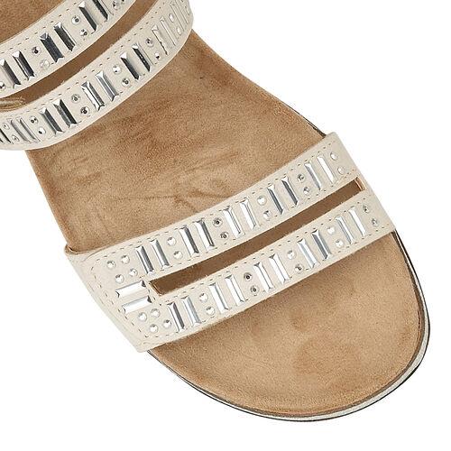 Lotus Halley Flat Mule Sandals (Size 6) - Beige