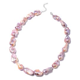 RHAPSODY AAAA Baroque Freshwater Pearl Beaded Necklace in 950 Platinum 20 Inch