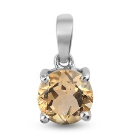 Citrine Pendant in Platinum Overlay Sterling Silver 0.64 ct  0.638  Ct.