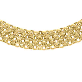 Bismark Necklace in 9K Yellow Gold 17 Inch