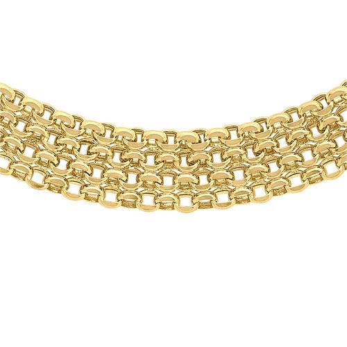 Bismark Necklace in 9K Yellow Gold 17 Inch
