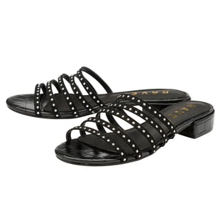 Ravel Alena Women's Slip On Sandals with Studded Straps in Black