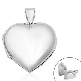 Thai Sterling Silver Heart Locket Pendant, Silver wt 6.30 Gms