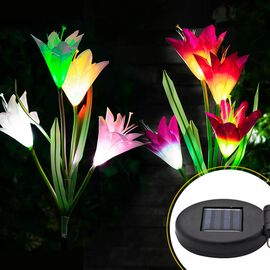 New Arrival Garden Decoration- 2 Piece Set Lily Flower Solar Lights