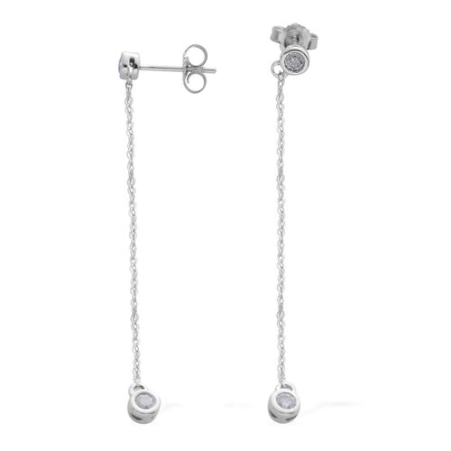 Constellation 9K White Gold 0.25 Carat Diamond (Earrings (with Push Back) SGL Certified (I3/G-H)