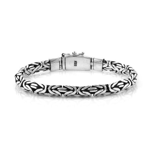 Royal Bali Collection Sterling Silver Borobudur Bracelet (Size 7.5), Silver wt 38.50 Gms.