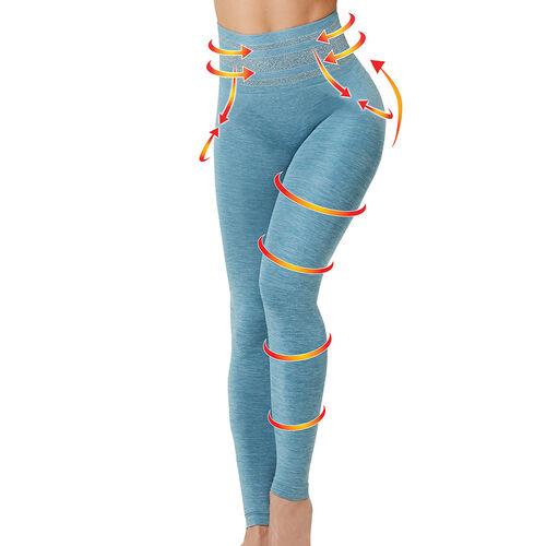 SANKOM Patent Yoga Leggings Colour Light Jeans