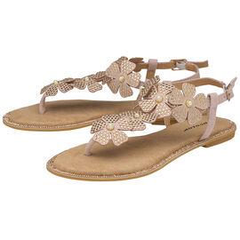 DUNLOP Rae Floral Embellished Sandals- Dusty Pink