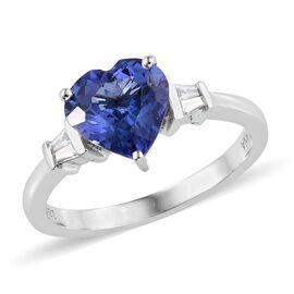 ILIANA AAA Tanzanite (1.90 Ct) and Diamond 18K W Gold Ring  1.950  Ct.