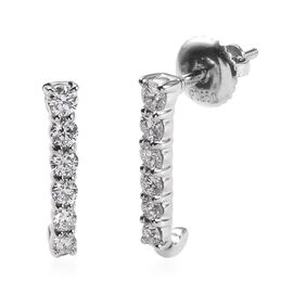 RHAPSODY 950 Platinum IGI Certified Diamond (Rnd) (VS/E-F) Earrings (with Screw Back) 0.500 Ct.