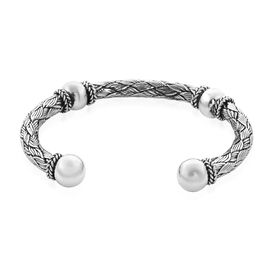 Royal Bali Collection Woven Cuff Bangle in Sterling Silver 39 Grams 7.5 Inch